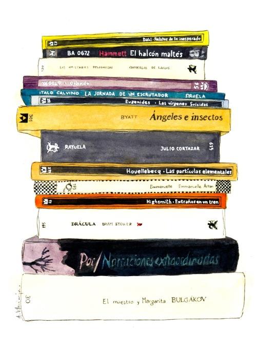 ilustracion libros
